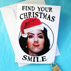 Brooklyn Nine Nine Funny Rosa Diaz Smile Christmas Card