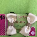 Nude bow set of 2