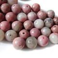20 Strawberry Agate gemstone beads 8mm Project lot