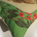 Vintage Retro Australian Koalas & Wildflowers (flowering Gum) Linen Cushion