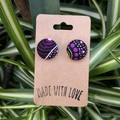 Indigenous Fabric Button Studs 19mm
