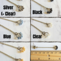 Vintage style dainty long teardrop glass bead chain dangling studs