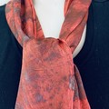 Silk Satin Eco Print Botanical Scarf