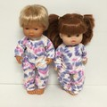 Miniland and Minikane Dolls Onesie/ Sleeper to fit 38cm dolls