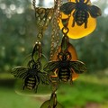 Seaglass Honey Bee Charm
