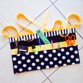 Preschool teacher utility vendor daycare lined apron - 6 pockets
