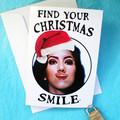 Brooklyn Nine Nine Funny Rosa Diaz Smile Christmas Card