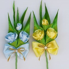 Boutonniere  #LDB64, 2 Colours