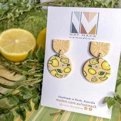 Lemon Squeezy Collection - Large Circle Stud Dangle