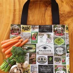 """Market Tote Bag """" Vintage Labels"""""""