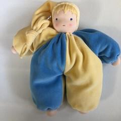 Waldorf/Steiner inspired cuddly jester doll
