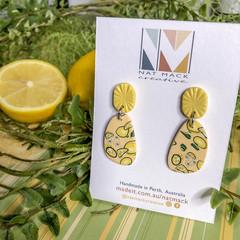 Lemon Squeezy Collection - Organic Pebble Stud Dangle