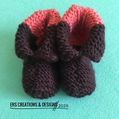 Knitted Winter Baby Booties