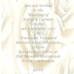 CREAM ROSE WEDDING INVITAITONS
