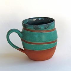 Green Swirl Coffee Mug