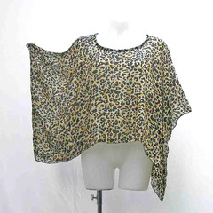 Plus size Leopard shrug, silk crop top, cover up, animal print bolero, upcycled