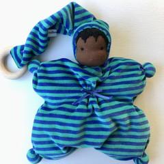 Waldorf/Steiner inspired cuddly teething doll