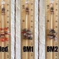 Simple Chic Boho Long Gemstone chip dangle earrings , Red Orange Brown Marble