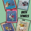 Embroidered Bath Towels featuring dogs $20 each