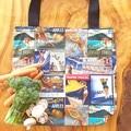 """Market Tote Bag """" Vintage Travel Ads"""""""