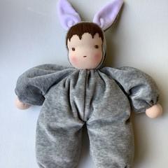 Waldorf/Steiner inspired cuddly rabbit doll