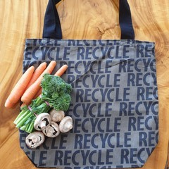 "Market Tote Bag "" Recycle print"""