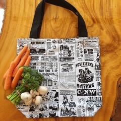 "Market Tote Bag ""Newsprint"""