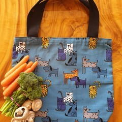 """Market Tote Bag """" Cats & Dogs"""""""