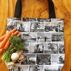 "Market Tote Bag "" Vintage Beach"""