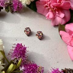 Polymer clay earrings - Jewel Studs