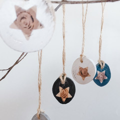 Wooden Star Drops