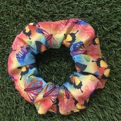 Rainbow Butterfly Scrunchie