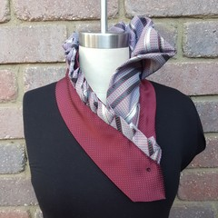 Upcycled Necktie Scarf  ~ Made to Order