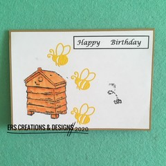 Buzzing Bees Birthday Card