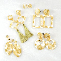 Metallic Gold Collection Earrings