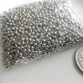 Bulk 2mm tiny silver spacer beads - hundreds - Destash