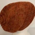 Unisex adult hand-knitted, hand dyed 100% AUSSIE-ALPACA  mrtl slouch-beanies 1/1