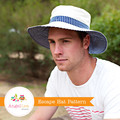 Man Sun Hat Pattern. PDF Sewing Pattern Mens Reversible Brimmed Sunhat