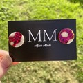 Pink and White Circular Resin Stud Earrings