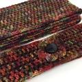 Ladies Crochet Infinity Scarf & Headband   Hand Dyed Merino   Hand Crocheted