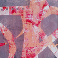 """""""Naughts and Crossses"""" original acrylic hand pulled print on paper"""