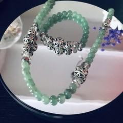 Aventurine  stone Set of two necklace & bracelet