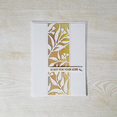 Gum leaves Sympathy Card, Sorry for your Loss