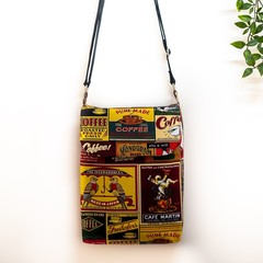 'COFFEE TIME' CROSS BODY TOTE
