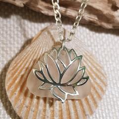 Seaglass White - Lotus Flower