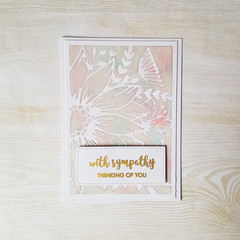 With Sympathy Card, Thinking of You, Floral Sympathy Card