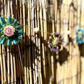 Jute Twine Raffia Paper Flower Hanging Garland Boho Tropical Garden Wall Decor