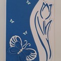 Greeting Card - Tulip and Butterfly