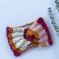 ADULT EARWARMER - PINKS & MUSTARD