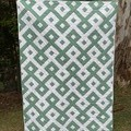 Green and White Quilt